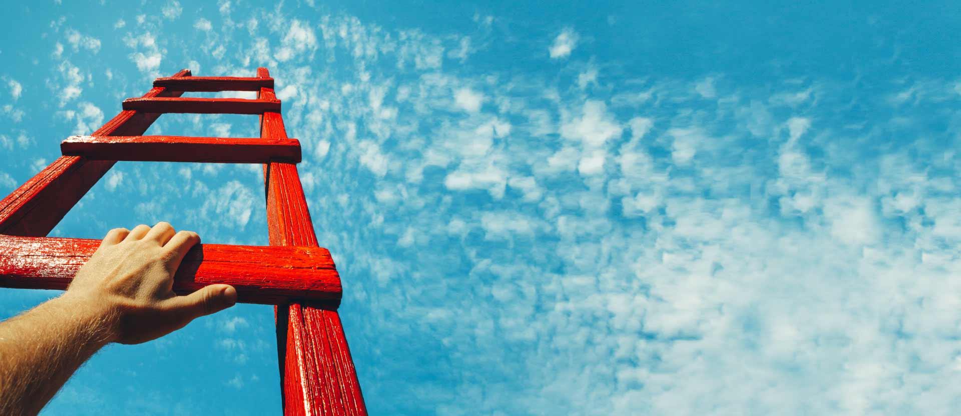 ladder against sky